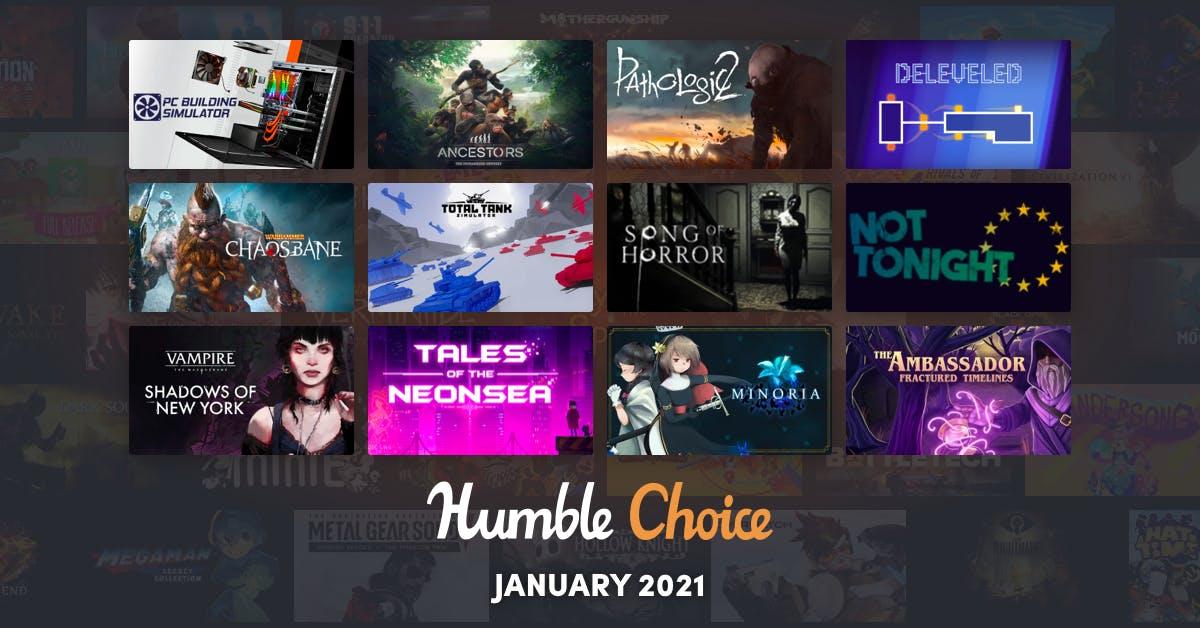 Humble Choice (Steam): Januar-Spiele z.B. Ancestors: The Humankind Odyssey, PC Building Simulator, Pathologic 2