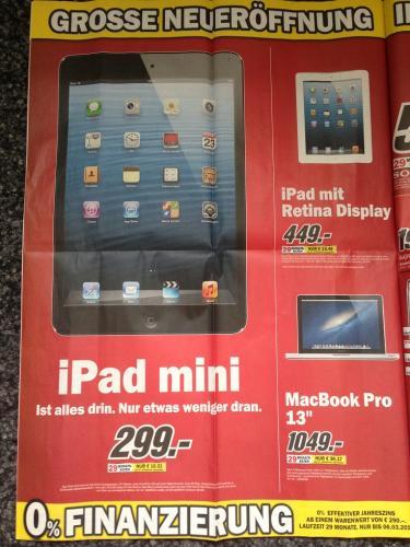 [Lokal München] 19.02 - MediaMarkt Pasing Arcaden - ipad mini 299 EUR - Apple TV 79 EUR