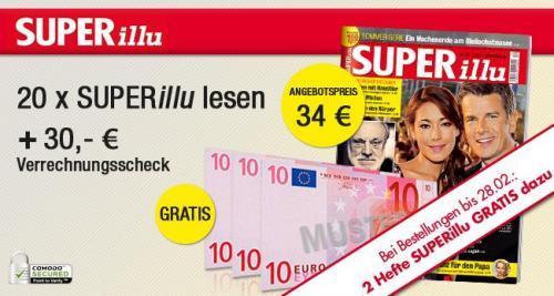 22x Super Illu für 4 Euro dank Verrechnungscheck+ 4€ Cashback von Qipu