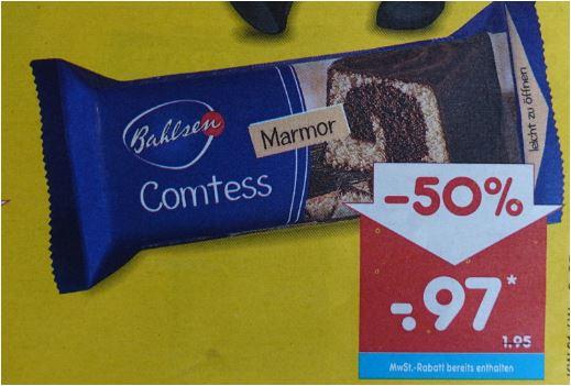 Bahlsen Comtess Kuchen, verschiedene Sorten, 350g für 97 Cent [Netto MD]