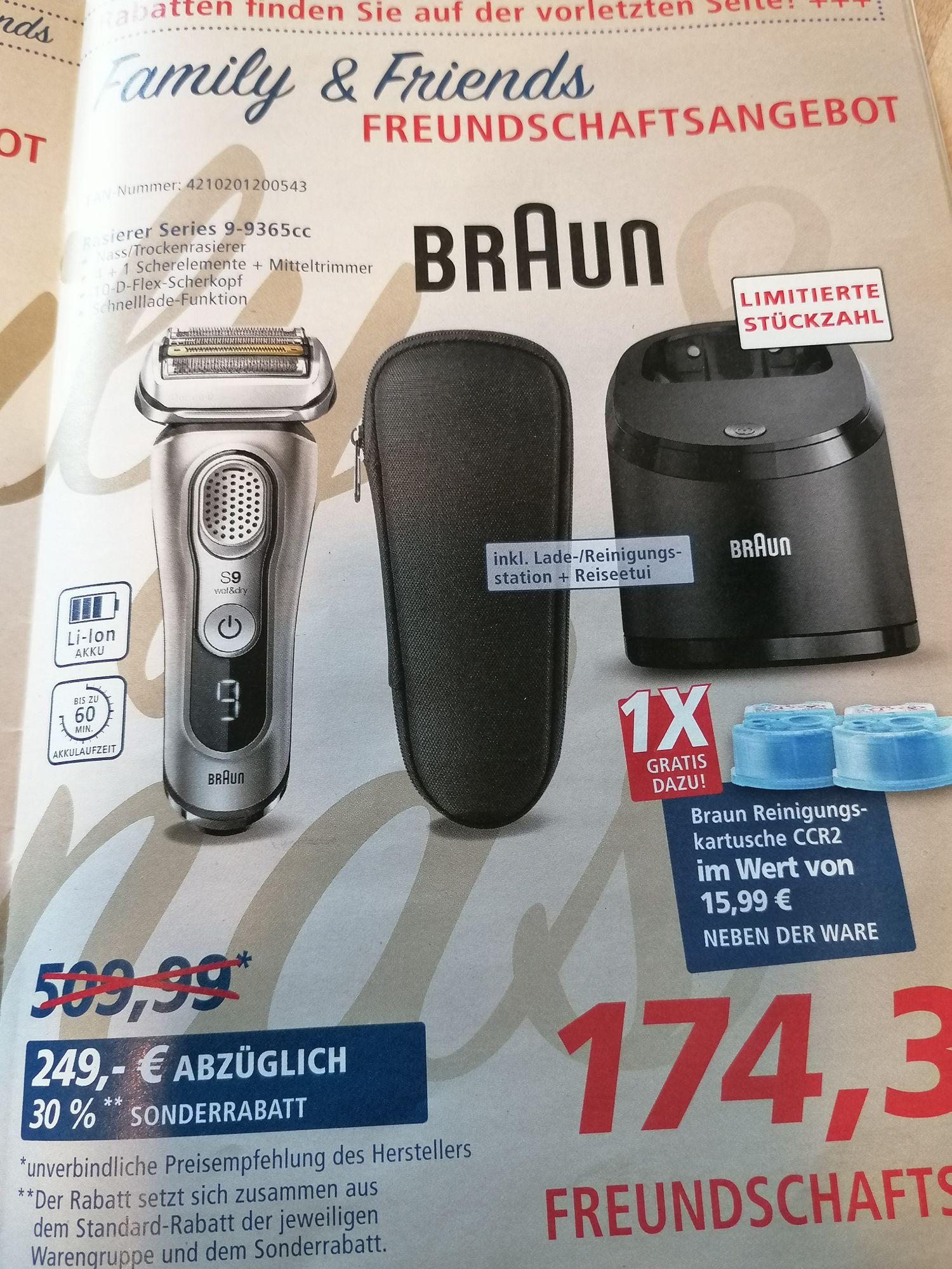 Braun series 9365cc,inkl. Ladestation und zwei Reinigungskapseln -