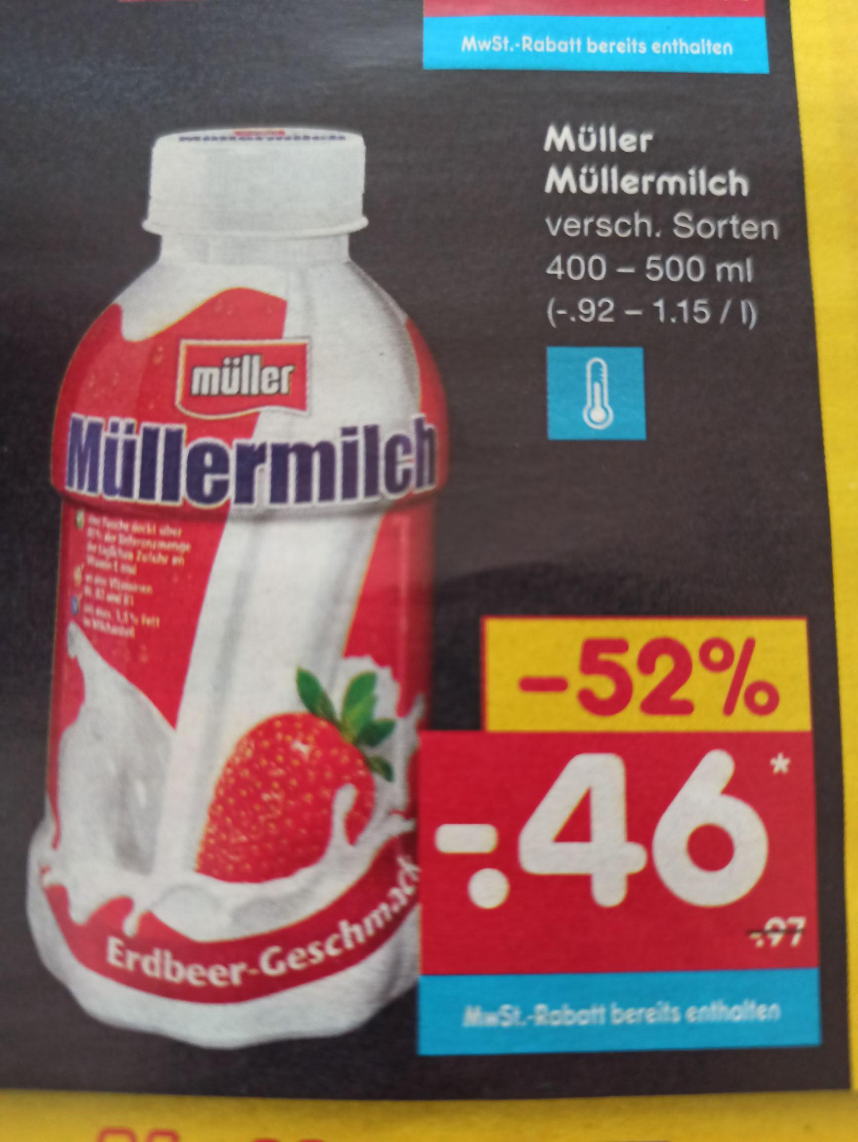 [Netto] MüllerMilch -> 400 ml oder 500 ml -> verschiedene Sorten