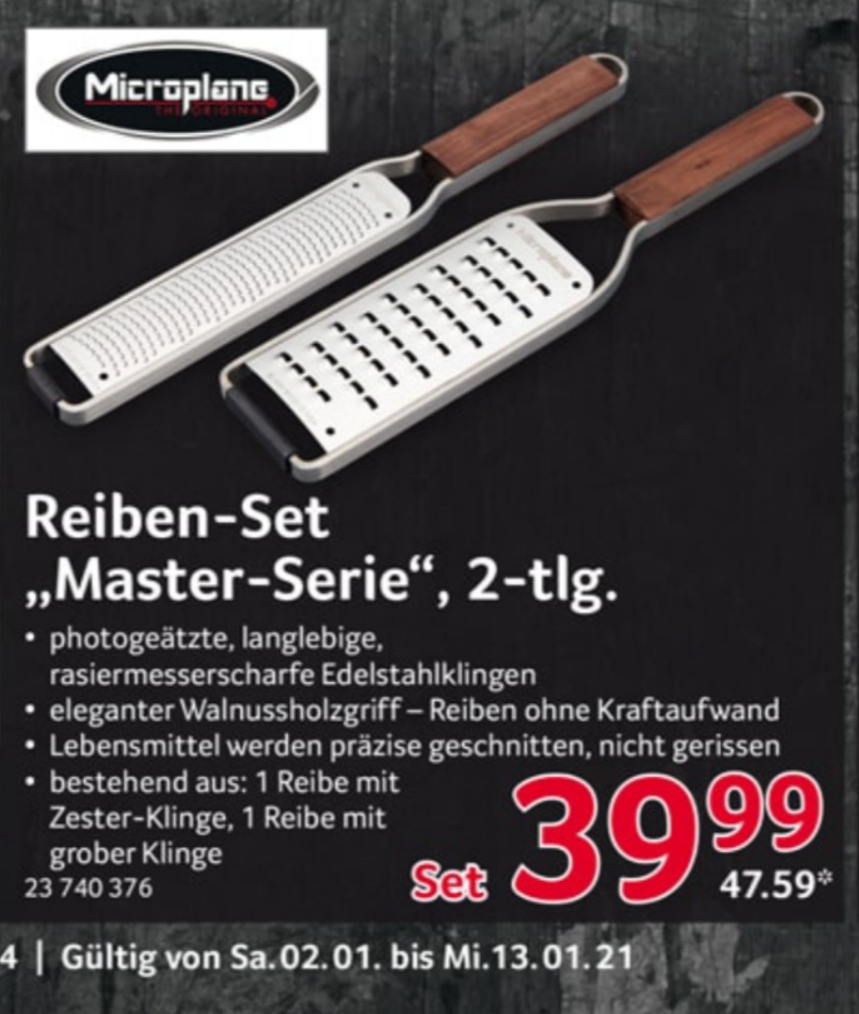 Selgros: Microplane Master-Serie 2-tlg