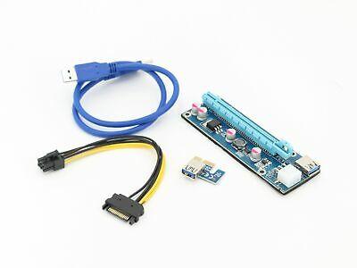 3x pcie 16x 1x Adapter Riser Kabel für mining