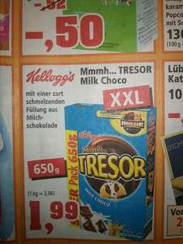Kelloggs Tresor Milk Choco 650g @Thomas Philipps