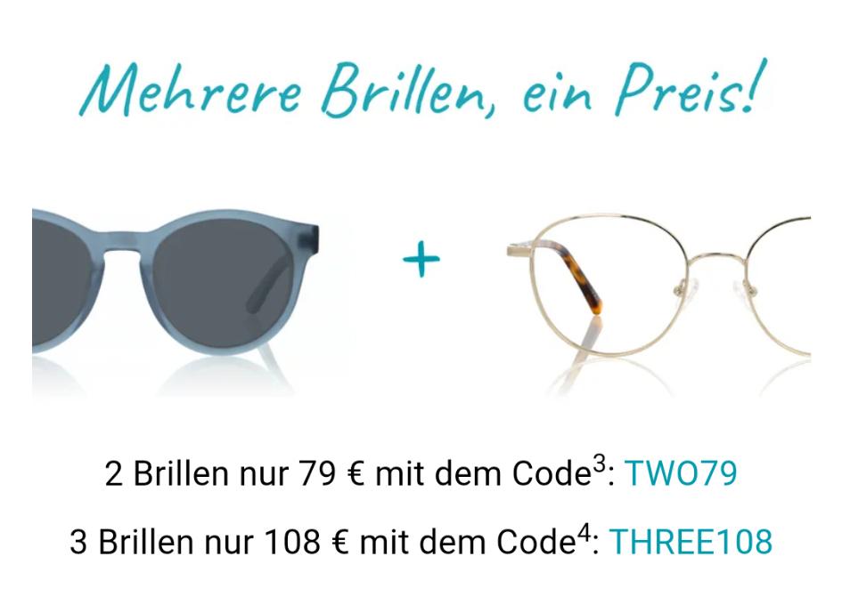 Zwei Brillen für 79€