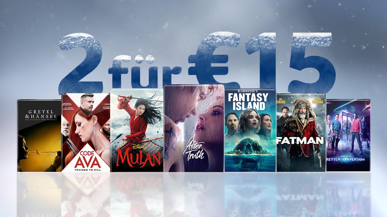 (Sky Store) 2 Filme für 15 Euro Digital Version (1. Kauf € 9,99, 2. Kauf € 5,01).
