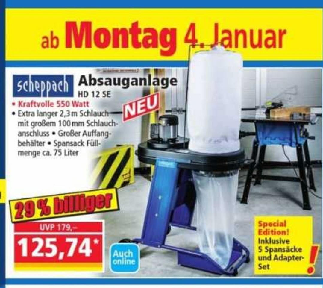 (Offline) Norma Angebot ab 04.01.21 Scheppach HD 12 SE Werkstatt-Absaugung