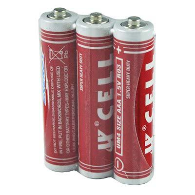3 AAA-Batterien R03 1.5V für 0,44€ inkl. Versand