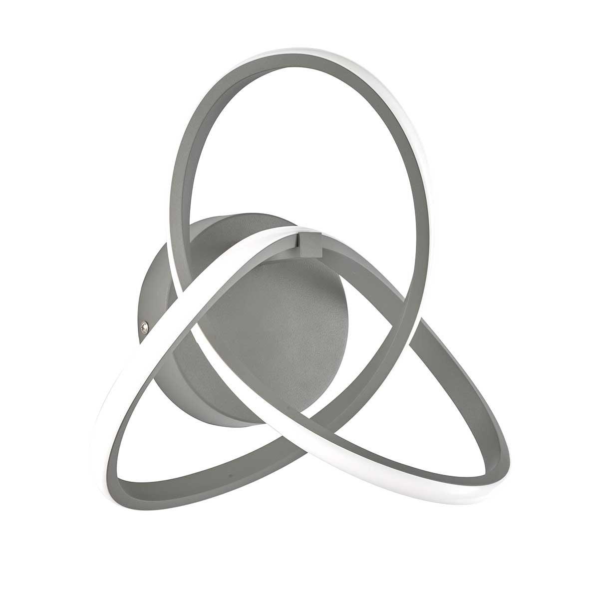 Moderne WOFI Wandleuchte INDIGO in grau und gold   LED 14W Warmweiß Energieeffizienz A
