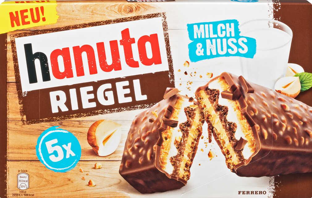 Ferrero Hanuta Riegel Milch & Nuss 5 Stück für nur 1,59€ bei Kaufland
