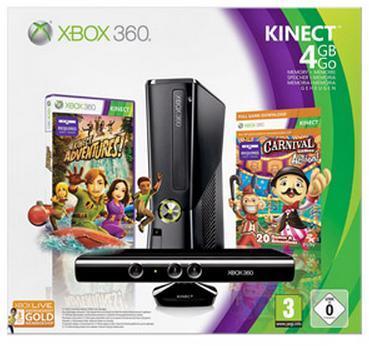 XBOX 360 4GB + Kinect + 2 Spiele + 3 Monate Xbox Live Gold