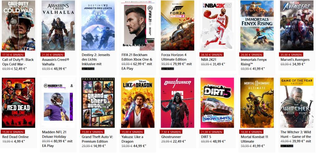 Bis zu 50 % auf ausgewählte Xbox-Spiele im Microsoft Store nur noch heute