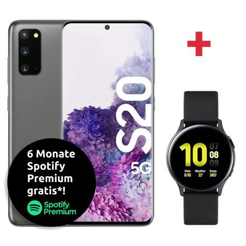 [MagentaEins] Samsung Galaxy S20 5G + Galaxy Watch Active2 für 4,99 € (29,99 €) ZZ im MagentaMobil S (Young) 12 (15) GB LTE/5G, Allnet & SMS