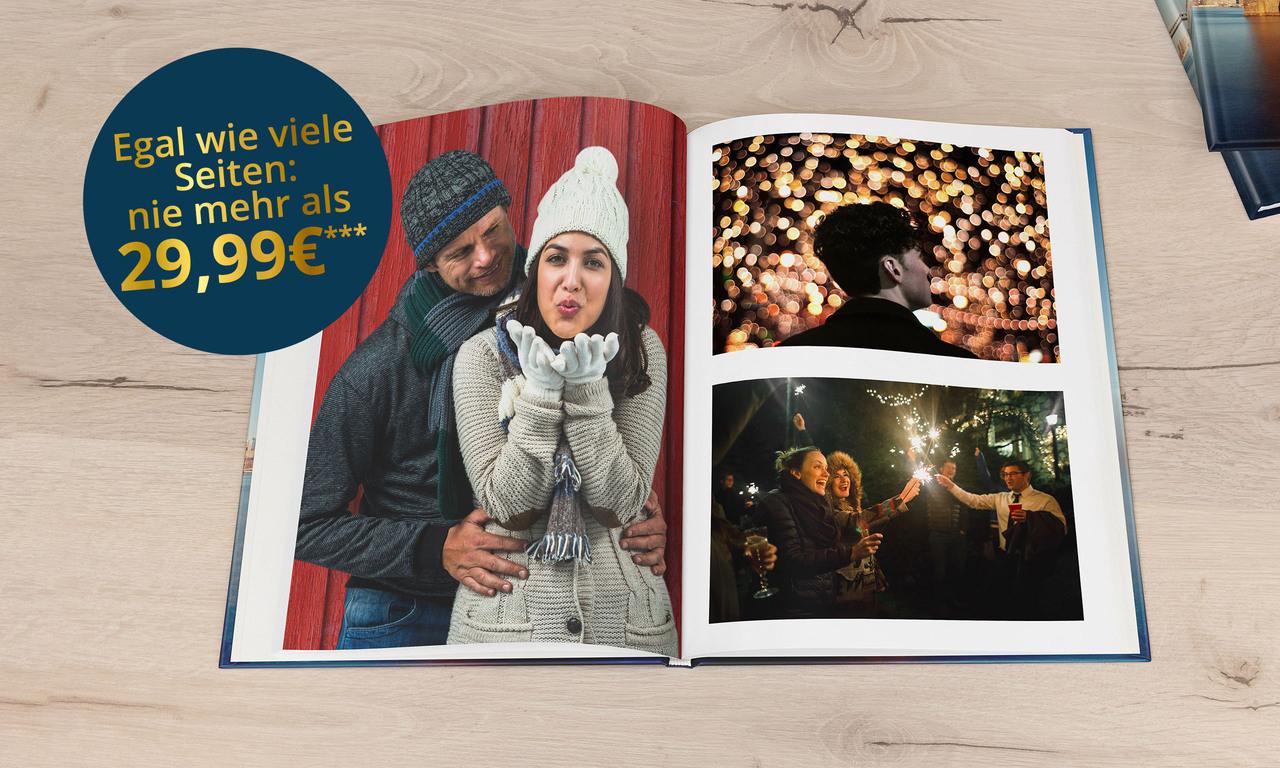 Fotobuch DIN A4 mit 96 Seiten bei PosterXXL mit 21 % Rabatt