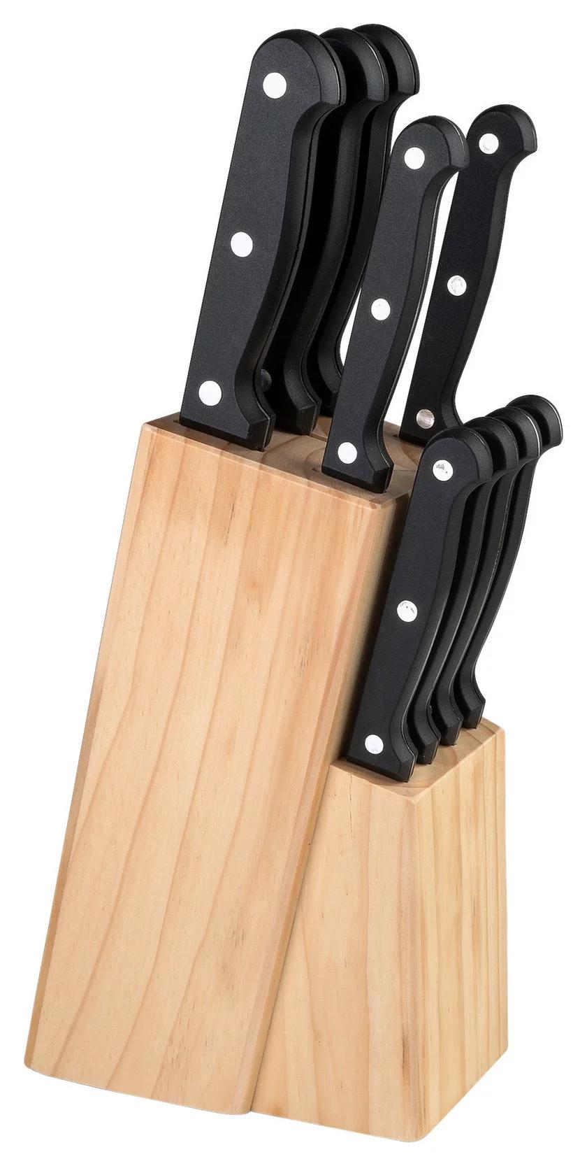 Justinus Messerblock Küchenchef 10-Teile Messer aus Edelstahl UVP:79€