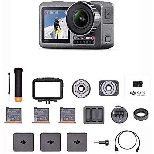 DJI Osmo Action Prime Combo - Actionkamera mit Zubehörkit (3x Akku, etc.) und DJI Care Refresh (bis zu 2 Ersatzgeräte im 1. Jahr)