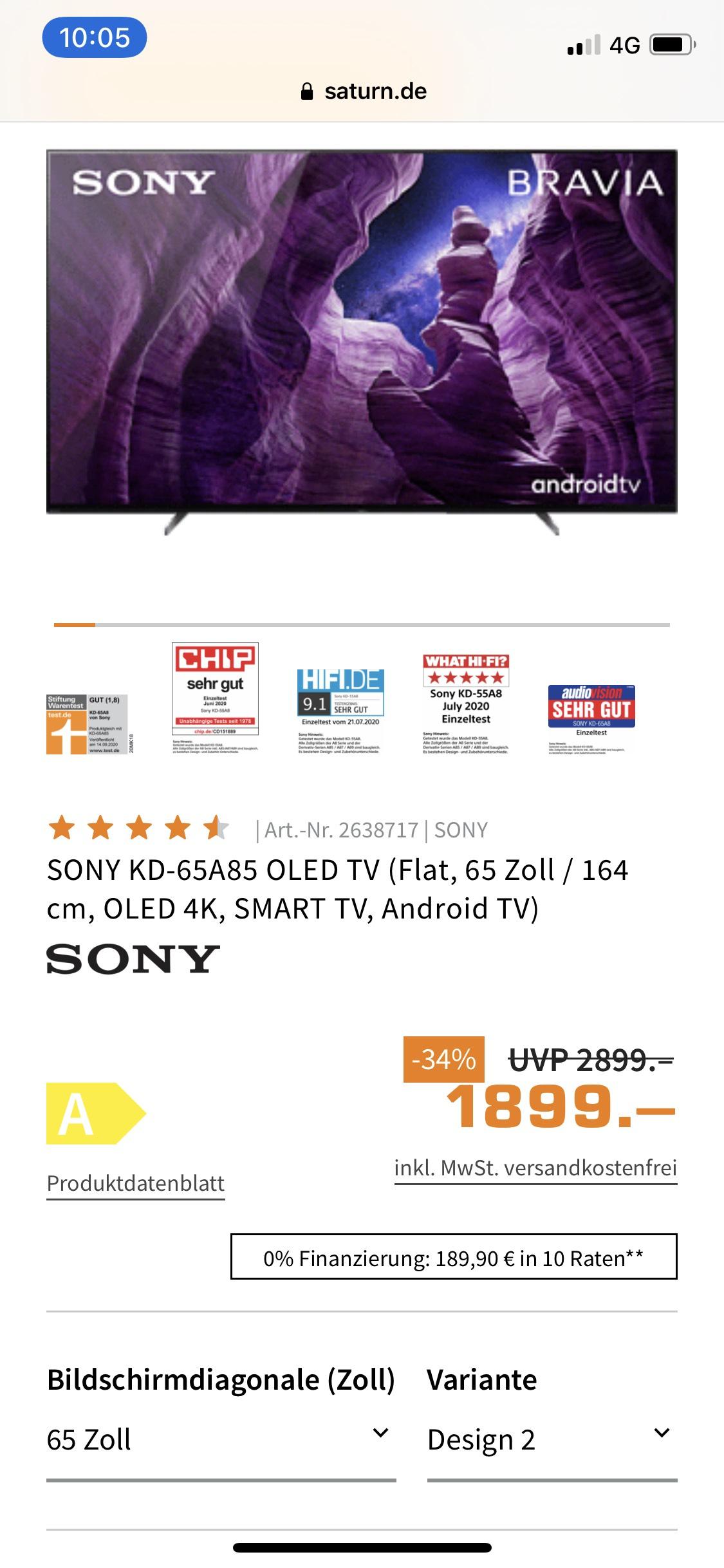 Sony KD-65A85