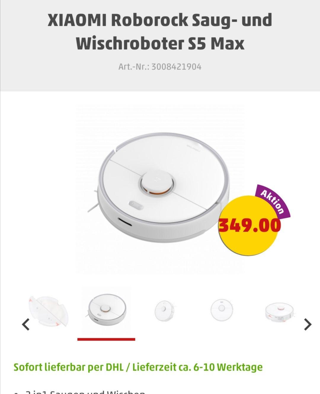 Roborock S5 Max in Weiß