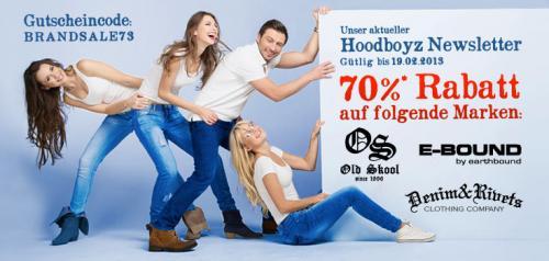70% Kinder und Herrenartikel Hoodboyz