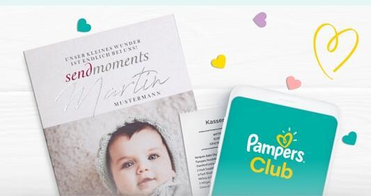 [pampers club] Pampers kassenbon scannen für kostenlosen 25€ sendmoments Gutschein