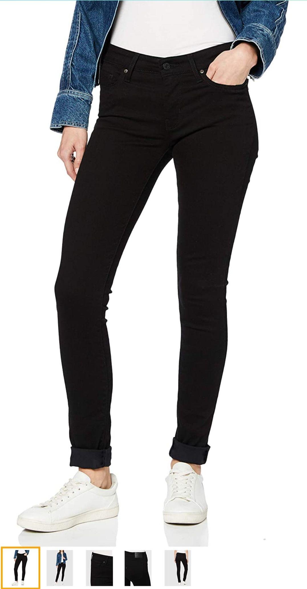 Levi's Damen 711 Skinny Jeans Black sheep Grösse 23 oder Mädchen 152/158