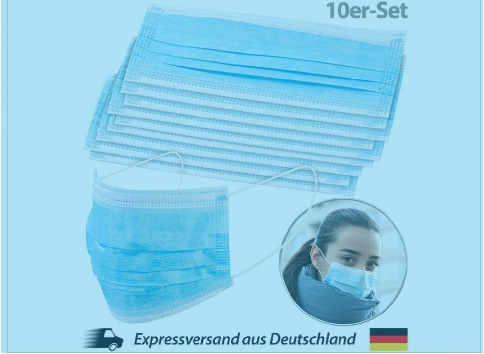 10er Pack Hygienemasken bei Pearl