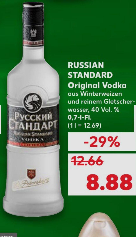 [Kaufland] Russian Standard Original Vodka - 40 Vol. %