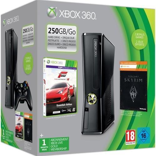 XBox 360 250 GB Forza4 + Skyrim + 1 Monat Gold