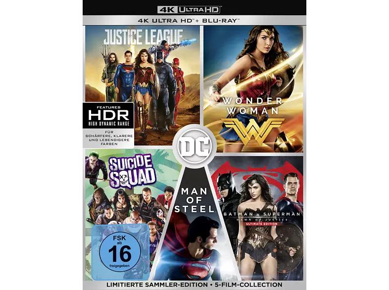 [Media Markt] DC 5-Film Collection (Limitierte Exklusivedition) (10 Discs) 4K Ultra HD Blu-ray + Blu-ray (z.B. Justice League, Wonder Woman)