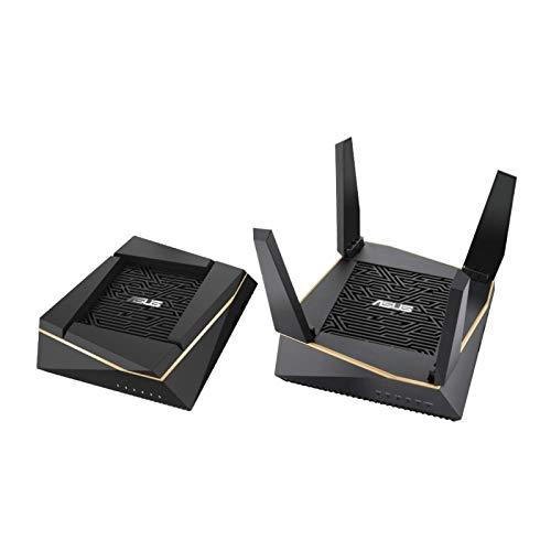 Asus Ai Mesh WLAN System (2x RT-AX92U, 2in1 Set, WiFi 6 für Mesh-Backbone, WiFi 1-5 für Client-Verbindung)