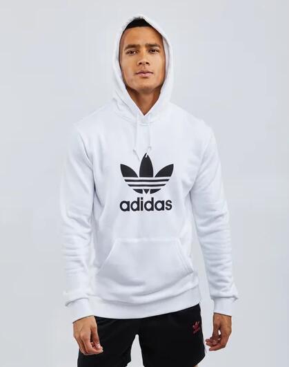 Adidas Originals Trefoil Herren Hoodie in weiss