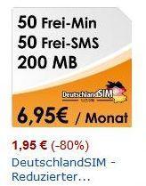 DeutschlandSIM (O2-Netz) All-in 50 für nur 1,95 Euro Abschlussgebühr (keine Vertragslaufzeit)