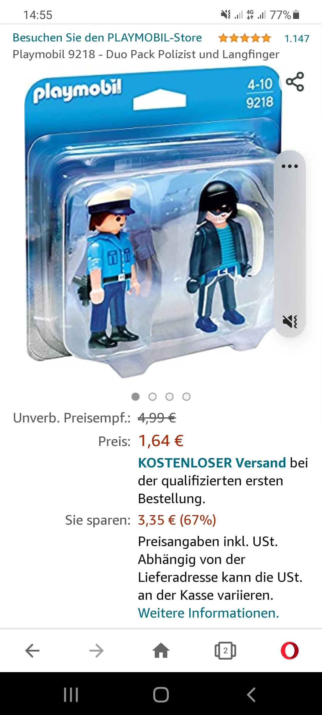 Amazon Prime Playmobil 9218 Polizist mit Langfinger