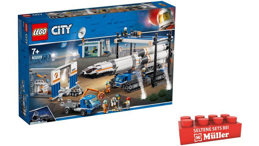 LEGO City - 60229 Raketenmontage & Transport (Müller Drogiere, Filialabholung)