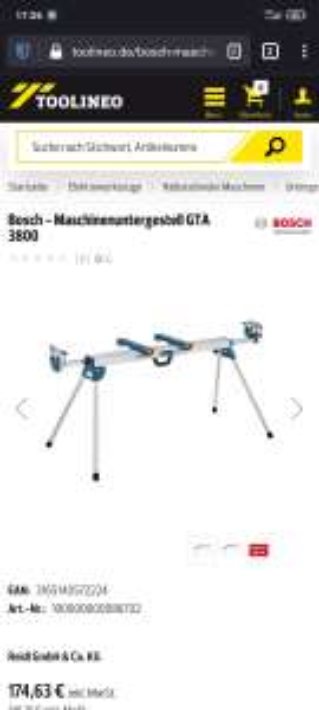 Bosch GTA 3800 Gestell für Säge, Kappsäge