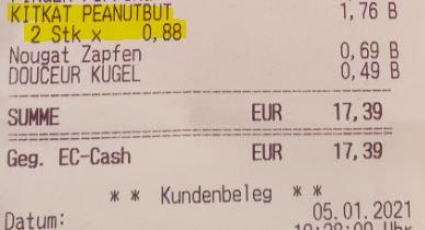 LOKAL - Oldenburg Nadorst / Penny: KitKat Chunky Peanutbutter (4x42gr.) für 0,88 Euro. Cookie Dough wohl ebenfalls.