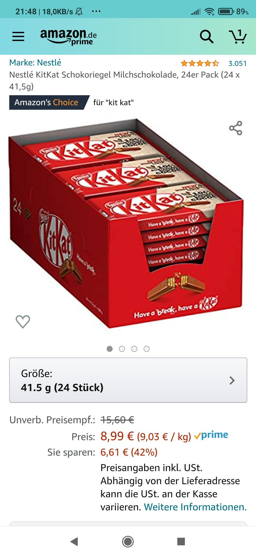 Kit Kat 24er Pack Amazon Prime