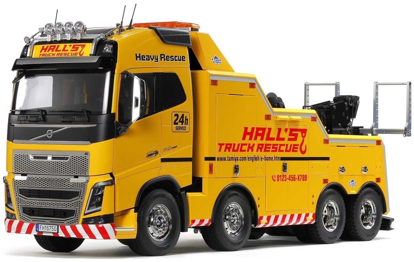 TAMIYA 56362 1:14 Volvo FH16 Abschlepper 8x4, Bausatz zum Zusammenbauen, RC Truck, fernsteuerbarer, Lastwagen, LKW, Konstruktionsspielzeug