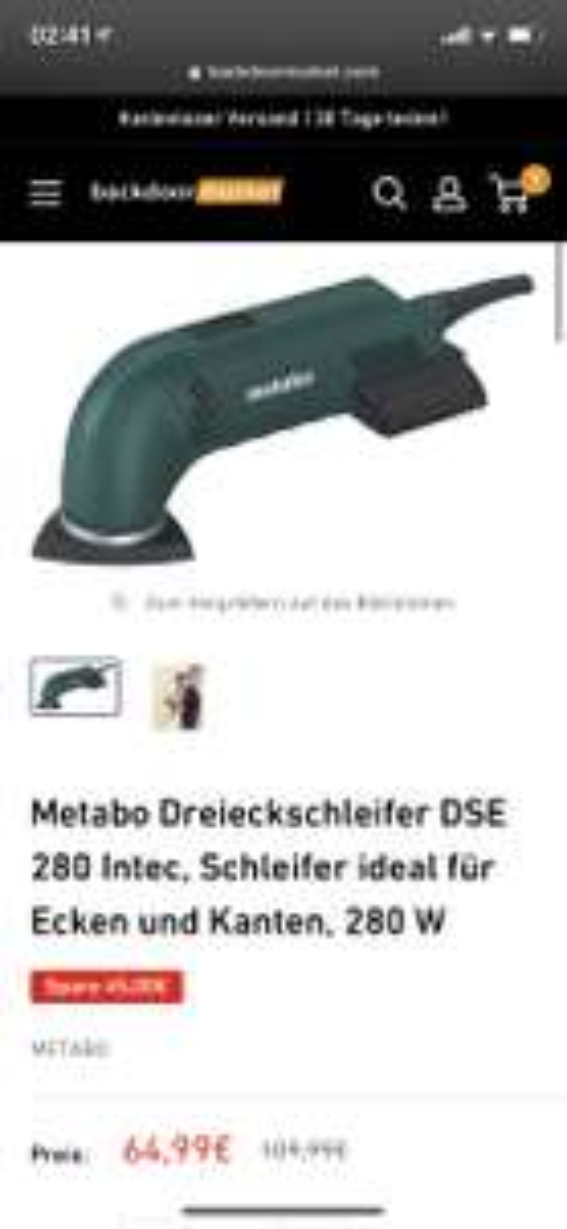 Metabo Dreieckschleifer