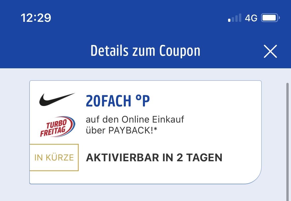 [8.1.] Payback Nike 20 Fach Punkten