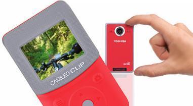 (ab Morgen 13 Uhr) Toshiba Camileo Clip Red  Pocket-HD Camcorder für 44,90 € @ DC