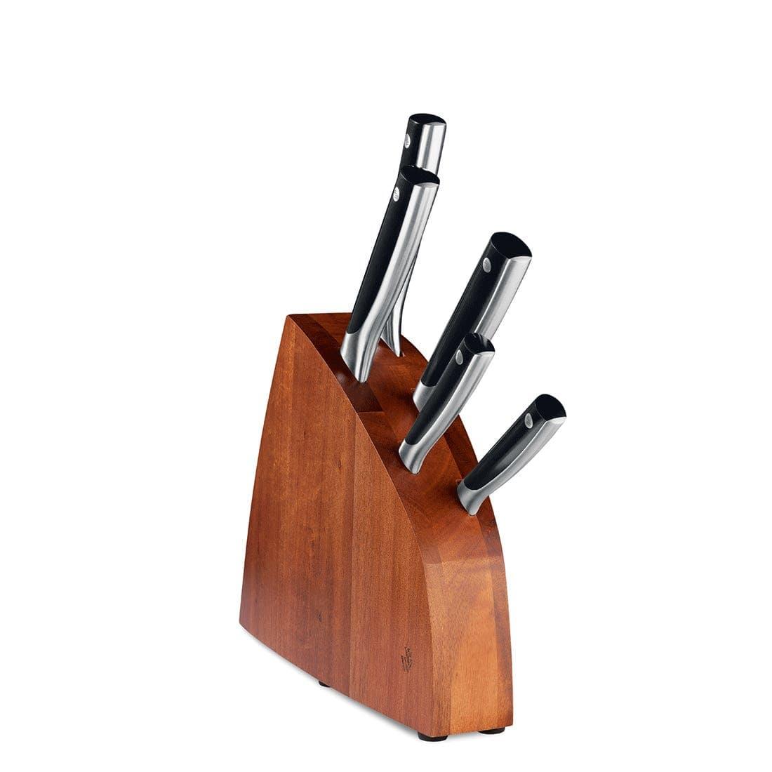 Paul Wirths Messerblock 5-teilig 0300 SOLID Material: 50CrMoV15, ABS