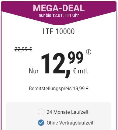 10 GB LTE (50 Mbit/s) simplytel Tarif (o2-Netz) für mtl. 12,99€ + Allnet- & SMS-Flat ohne Vertragslaufzeit oder 24 Monate