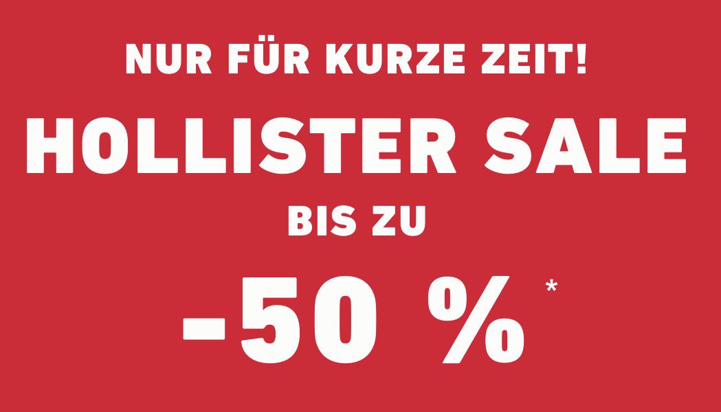 Bei Hollister gibt es -50% auf Artikel im Sale!