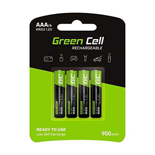 (Prime) Green Cell 950mAh 1.2V 4 Stck Vorgeladene NI-MH AAA-Akkus