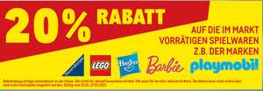 [Metro ab 21.01-Nur mit Metro Karte] 20% Rabatt auf playmobil,Lego,Hasbro,Barbie und Ravensburger / 20% auf Fiskars-Nike-Puma-Kappa