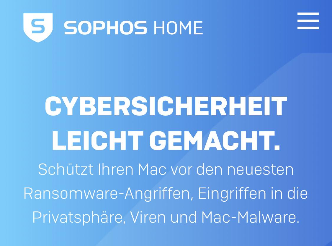 30% auf 1/2/3 Jahreslizenzen von Sophos Home Premium