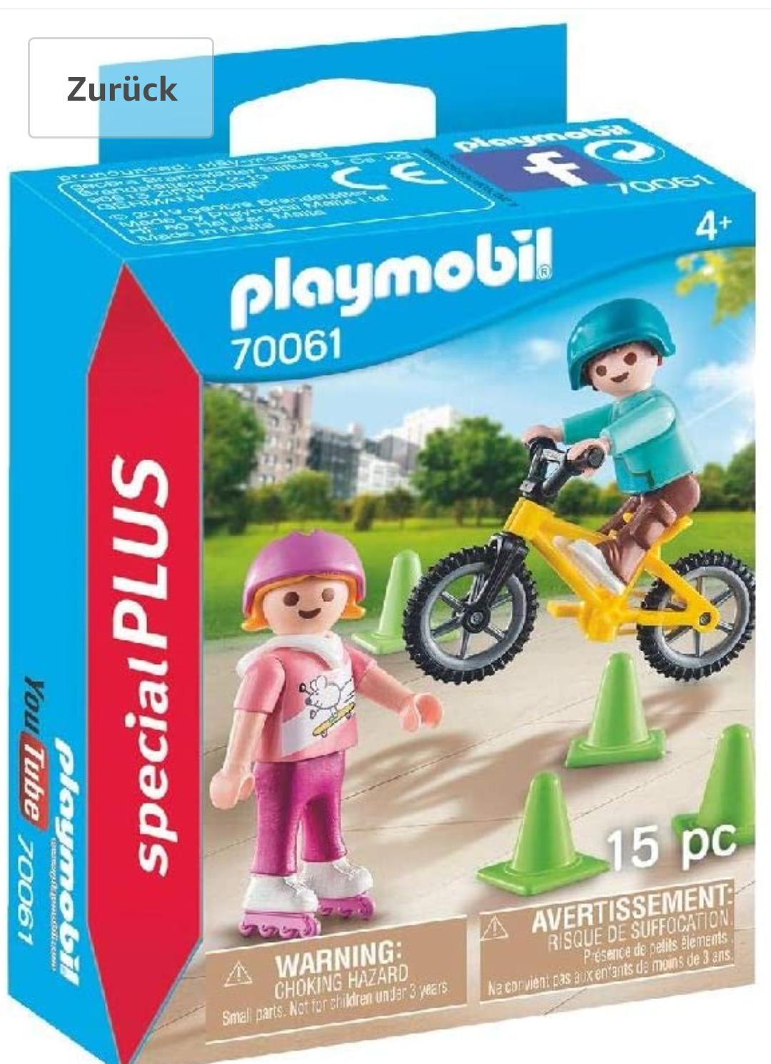 Amazon Prime PLAYMOBIL 70061 Special Plus Kinder m. Skates u. BMX