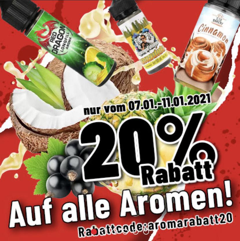 20% Rabatt auf Aromen bei Riccardo.de